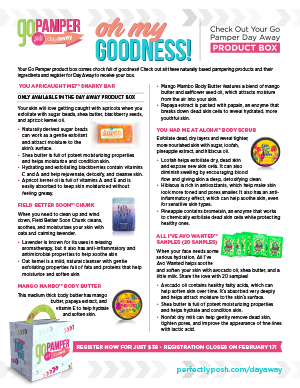 SS17 Day Away Product Box Infographic