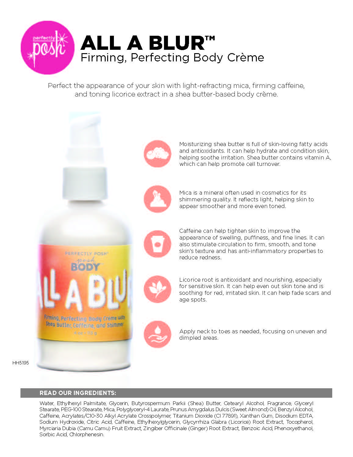 All A Blur Firming, Perfecting Body Crème