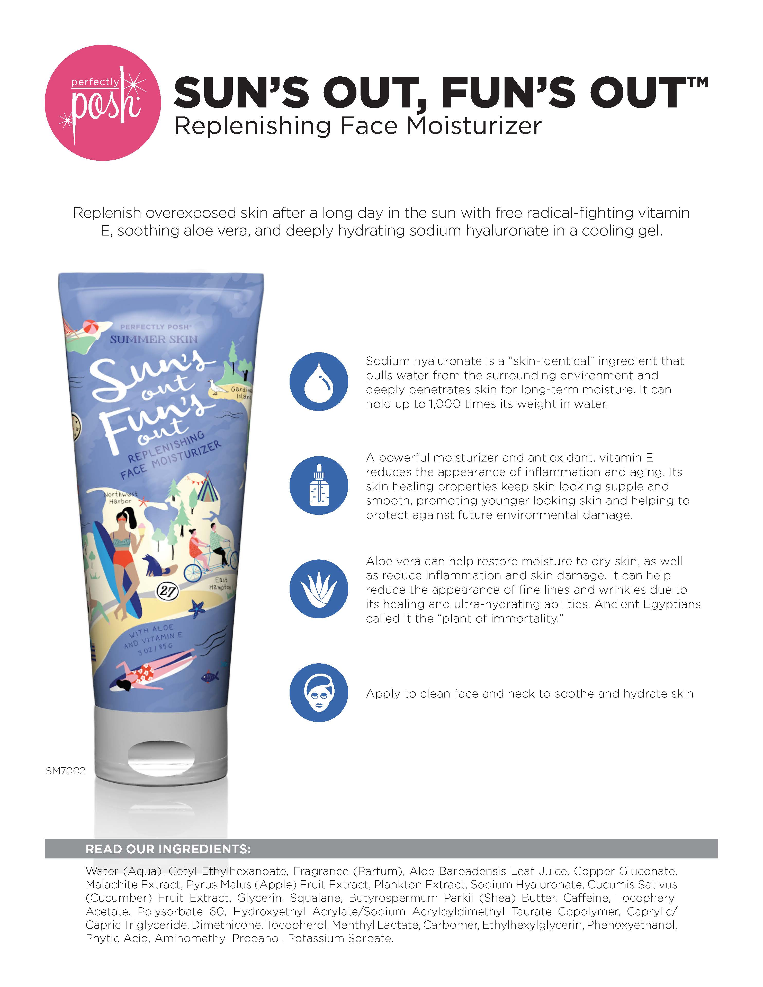 Sun's Out, Fun's Out Replenishing Face Moisturizer